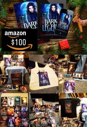 Dark Legends Giveaway - mega box of books + author swag + $100 in Amazon credit
